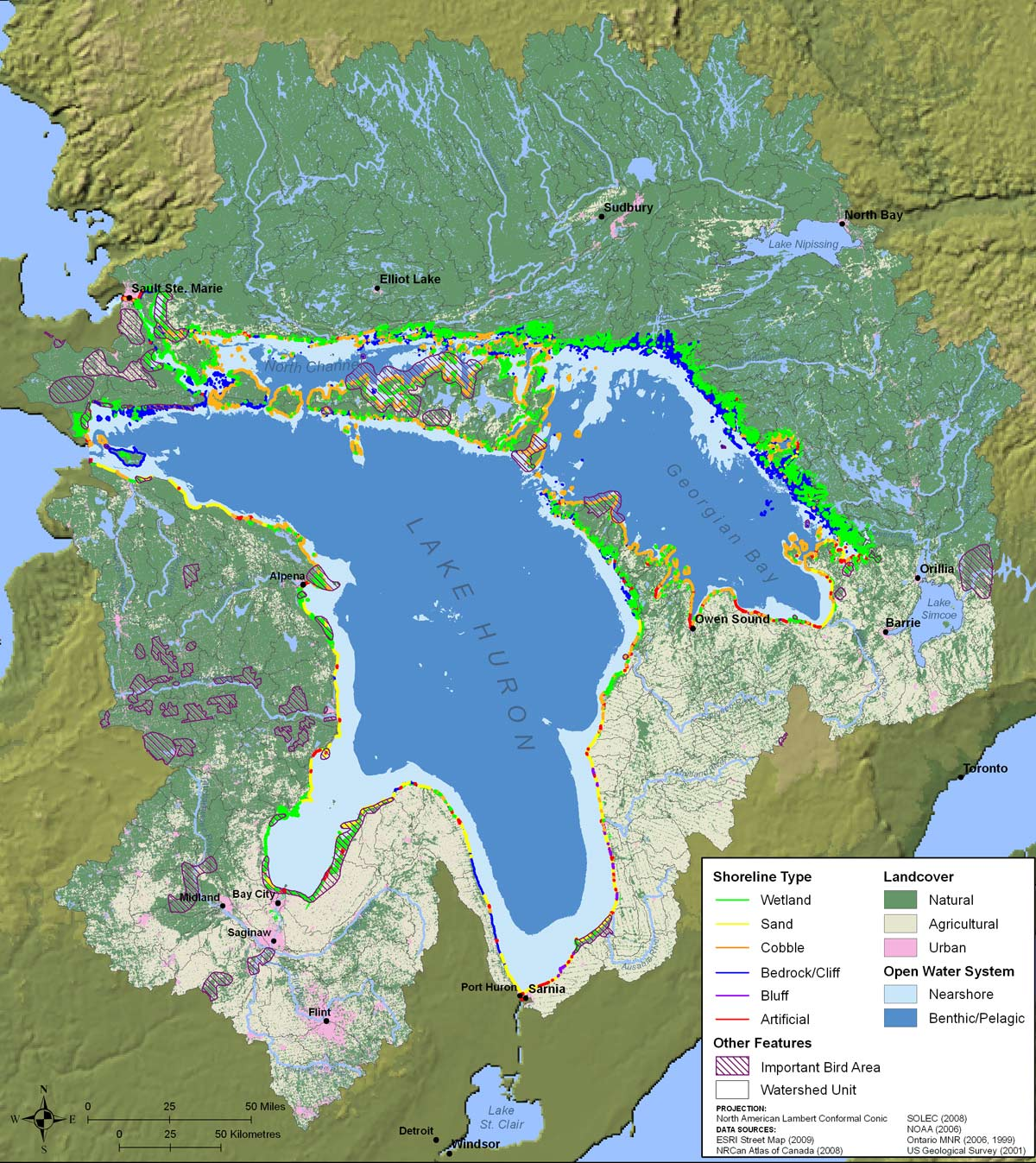 About the lake huron watershed biodiversity features of lake huron biodiversity features of lake huron sciox Gallery